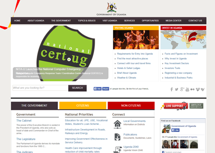 Uganda National Web Portal